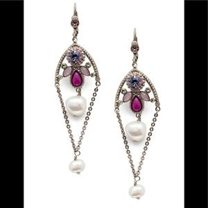 Sorrelli Stargazer With Pearls Earrings,NWT